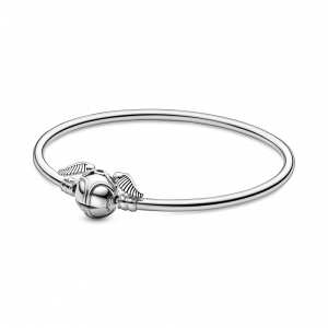Harry Potter sterling silver bangle with Golden Snitch clasp
