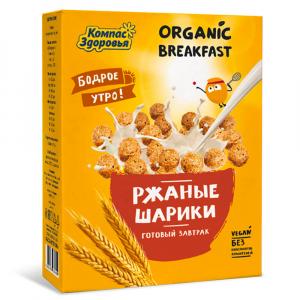 Завтраки Ржаные шарики Компас Здоровья 100гр