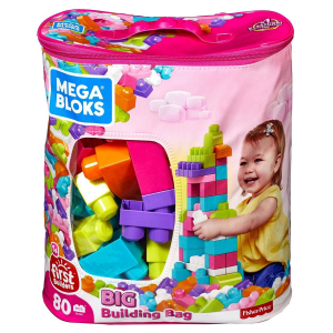 Конструктор Mega Bloks First builders голубой (80 дет.)