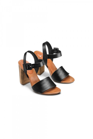 BATA. SANDAL IN COW LEATHER WITH HIGH HEEL, COLOR.BLACK