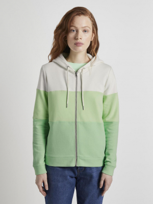 color block s, green creme colorblock, L