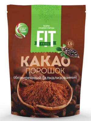 Какао обезжиренный FitFeel 150 г (дойпак)