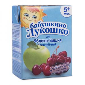 Сок Бабушкино лукошко яблочно-вишневый осветленный 200 мл