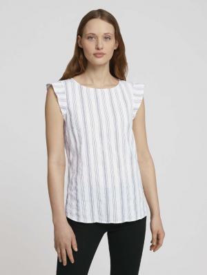 angel sle, navy white vertical stripe, S