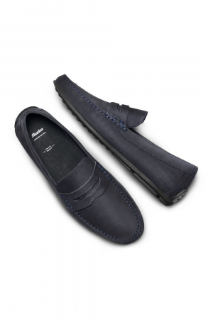 BATA- MEN NUBUCK MOCASSIN -BLUE COLOUR