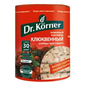 Хлебцы сладкие Korner Клюквенный Злаковый коктейль100гр