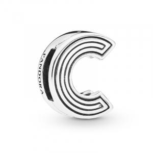 Pandora Reflexions letter C silver clip charm