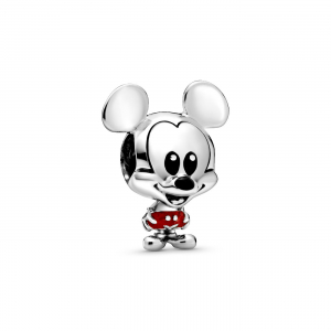 Disney Mickey sterling silver charm with red and black enamel