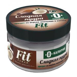 Сладкая пудра FitParad на эритрите со вкусом шоколада и кокоса