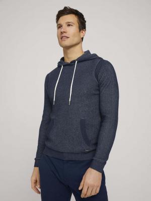 structured hoody, Dark Blue, S