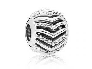 Wishbone silver charm
