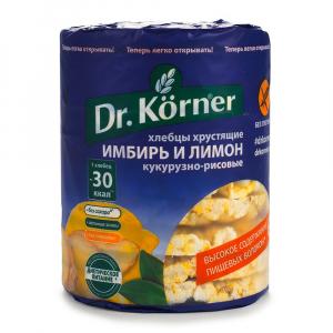 Хлебцы хрустящие Кукурузно – рисовые с имбирем и лимоном