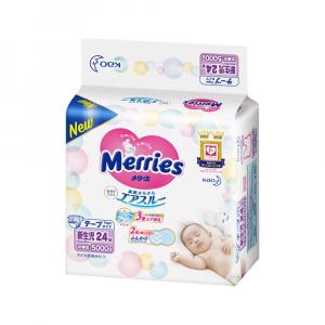 Подгузники для новорожденных MERRIES 5 кг 24 шт