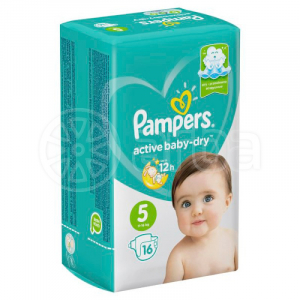 PAMPERS AVTIVE BABY-DRY #5 11-16 КГ 16 ШТ