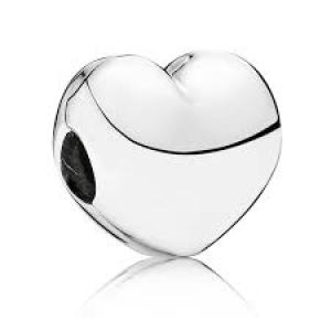 Heart silver clip
