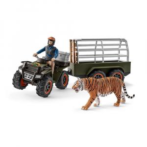 Игровой набор Schleich Квадробайк и Тигр