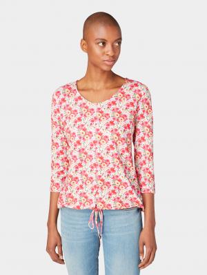 T-shirt allover p, pink floral design, S