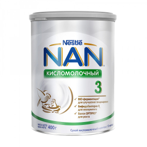 Смесь NAN 3 кисломолочная 400 гр
