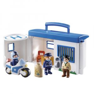 Набор Playmobil 1.2.3 Возьми с собой полицейский участок