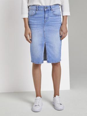 skirt denim long style, Blue Denim, 44