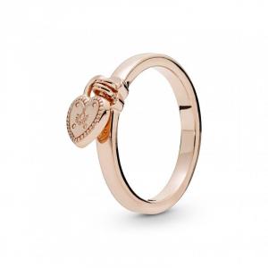 Heart padlock Pandora Rose ring