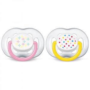 Пустышка Philips Avent для девочек 2 шт c 6-18 месяцев
