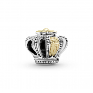 Crown sterling silver and 14k gold charm