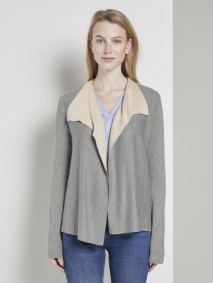cardigan double, Silver Grey Melange, XS