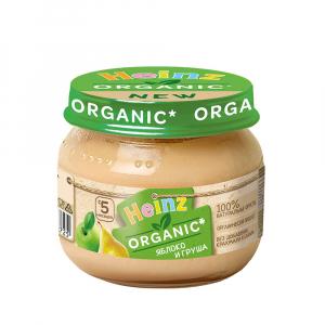 Пюре Heinz яблоко-груша Organic 80 гр