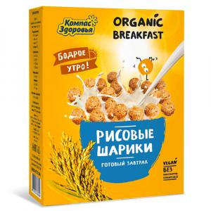 Завтраки Рисовые шарики Компас Здоровья 100гр