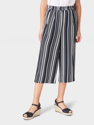 culotte, black vertical multi stripe, 36