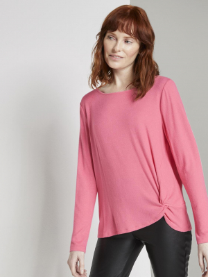 T-Shirt cosy c, charming pink melange, S
