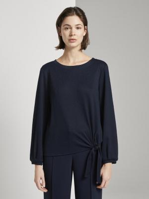 T-Shirt crincle str, Sky Captain Blue, L