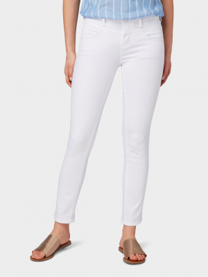 Tom Tailor Alexa slim ankl, White, 25/32