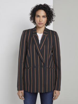 blazer mod, navy beige orange stripe, 36