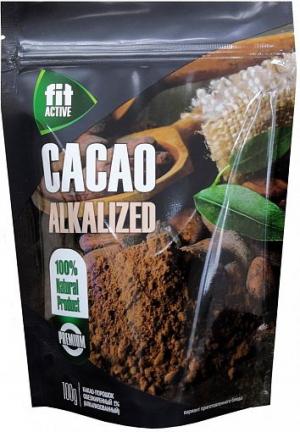 Какао-порошок обезжиренный (алкализованный), тм Фитактив 100г