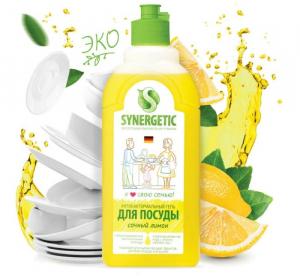 Synergetic гель для мытья посуды Лимон,  0,5 л.