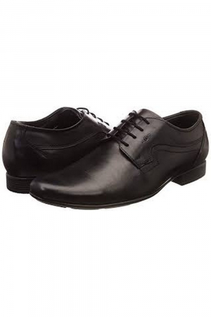 MEN LEATHER SHOE - BLACK COLOUR