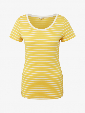 T-shirt striped, yellow stripe, M