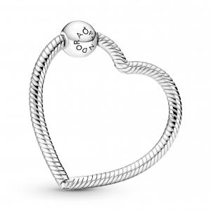 Heart sterling silver Pandora O holder