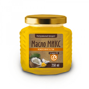 Масло Микс Кокосовое&ГХИ 250мл Шри-Ланка
