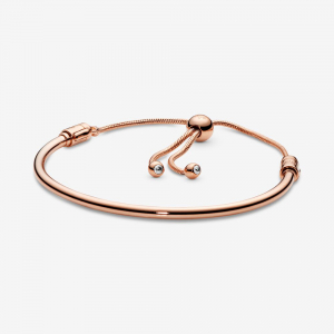 Pandora Rose bangle with clear cubic zirconia and sliding clasp