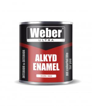 Эмаль бордовый 2.7 кг WEBER