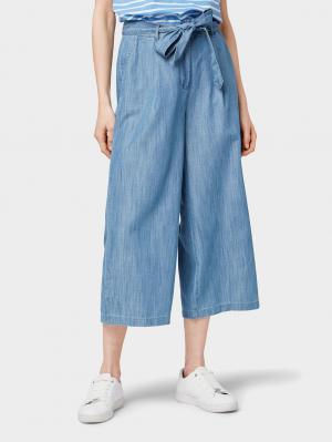 Lyocell culotte pants, Blue Denim, 36