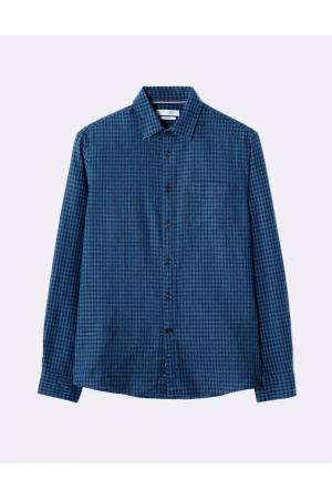flax shirt / co indigo small tiles