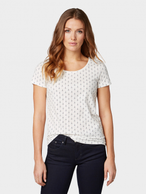 T-shirt allov, offwhite anchor design, S