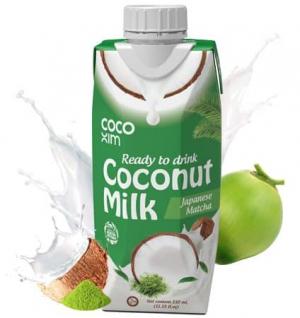 Кокосовое молоко питьевое с Матча