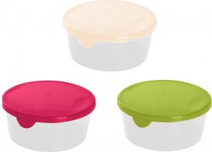 Емкость для хранения и заморозки продуктов Браво круглая 0,75 л микс, GR1033МИКС