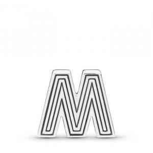 Pandora Reflexions letter M silver clip charm
