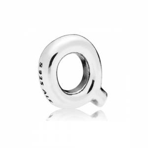 Letter Q silver petite element